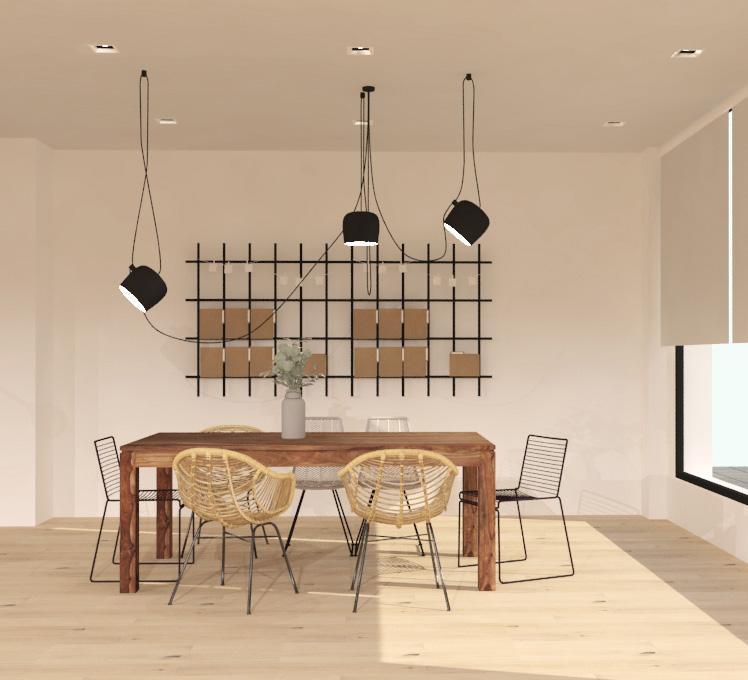Imatge d'una oficina minimalista d'un estudi de disseny d'interiors